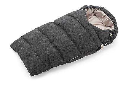 Stokke - Saco de dormir de plumón anthracite melange
