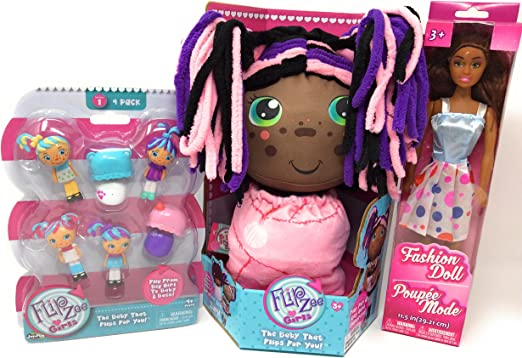 Flip Zee Girls Zuri Kitty Cat Sweet And Cuddly 2-in-1 Plush Doll New in Box