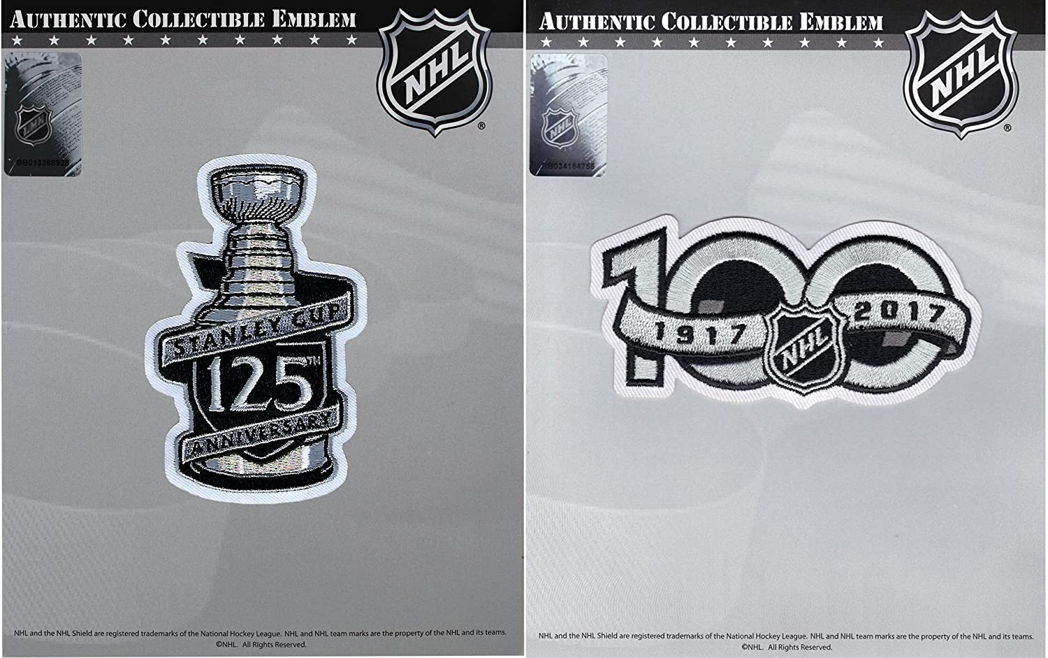 1077a5e53 Amazon.com   125th Stanley Cup Final   NHL 100th Centennial Season Anniversary  Jersey Patch   Sports   Outdoors