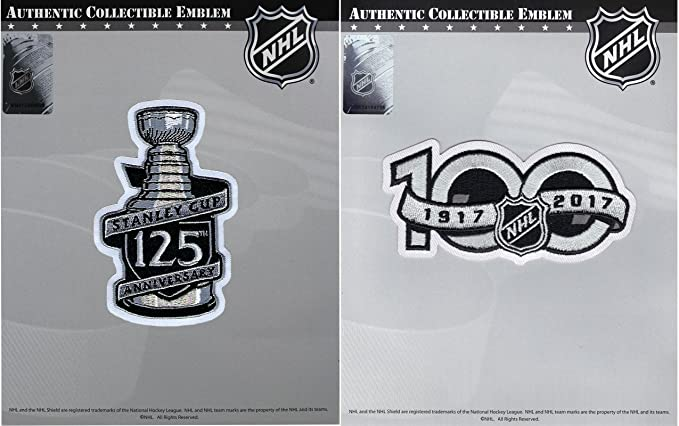 d130de59a9c Image Unavailable. Image not available for. Color: 125th Stanley Cup Final  & NHL 100th Centennial Season Anniversary Jersey Patch