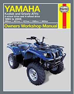 2003-2007 yamaha kodiak 450 4x4 service manual and atv owners manua.