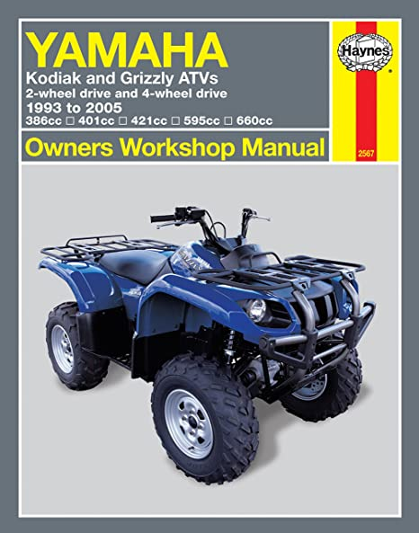 amazon com haynes 2567 yamaha kodiak atv manual automotive rh amazon com yamaha grizzly 350 owners manual yamaha grizzly 350 service manual pdf
