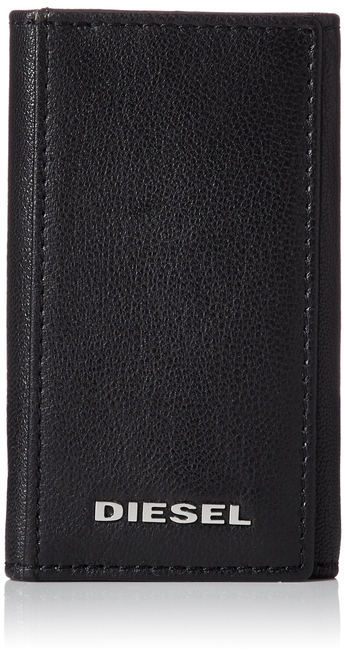 Diesel Men's Fresh Starter KEYCASE O-Key Holder, Black/PUREED Pumpkin, One Size