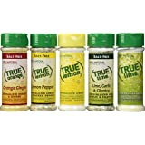 True Citrus Lemon Pepper, Lime Garlic & Cilantro, Orange Ginger, Bonus Includes Lemon & Lime Shaker, No Sodium, Gluten Free, Seasoning Salt Spice Shaker Kit.