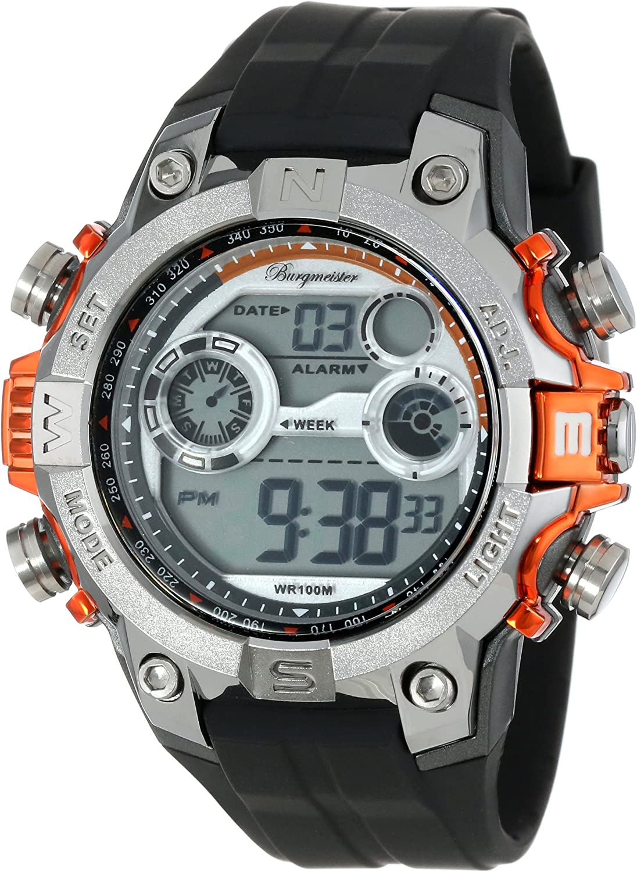 Burgmeister Reloj Alarma-Cronógrafo Digital Power BM800-112B