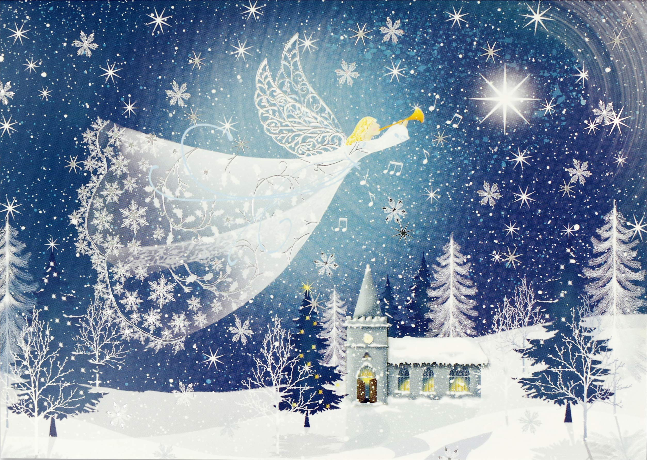 Angel Christmas Cards 2020 Tidings of Joy Deluxe Boxed Holiday Cards (Christmas Cards