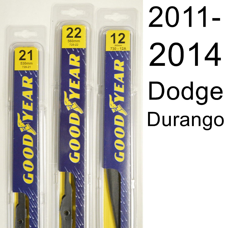 Dodge Durango 2011 2014 Wiper Blade Kit Set Includes 2012 Crew Awd 22 Driver Side 21 Passenger 12a Rear 3 Blades Total