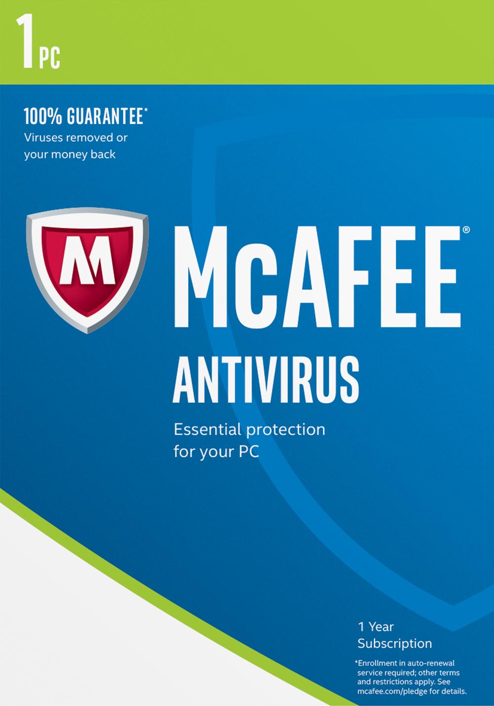 Mcafee 2017 Antivirus 1 Pc  Online Code