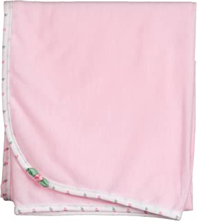 product image for Laura Dare Baby Girls Pink Rosebud Jersey Blanket