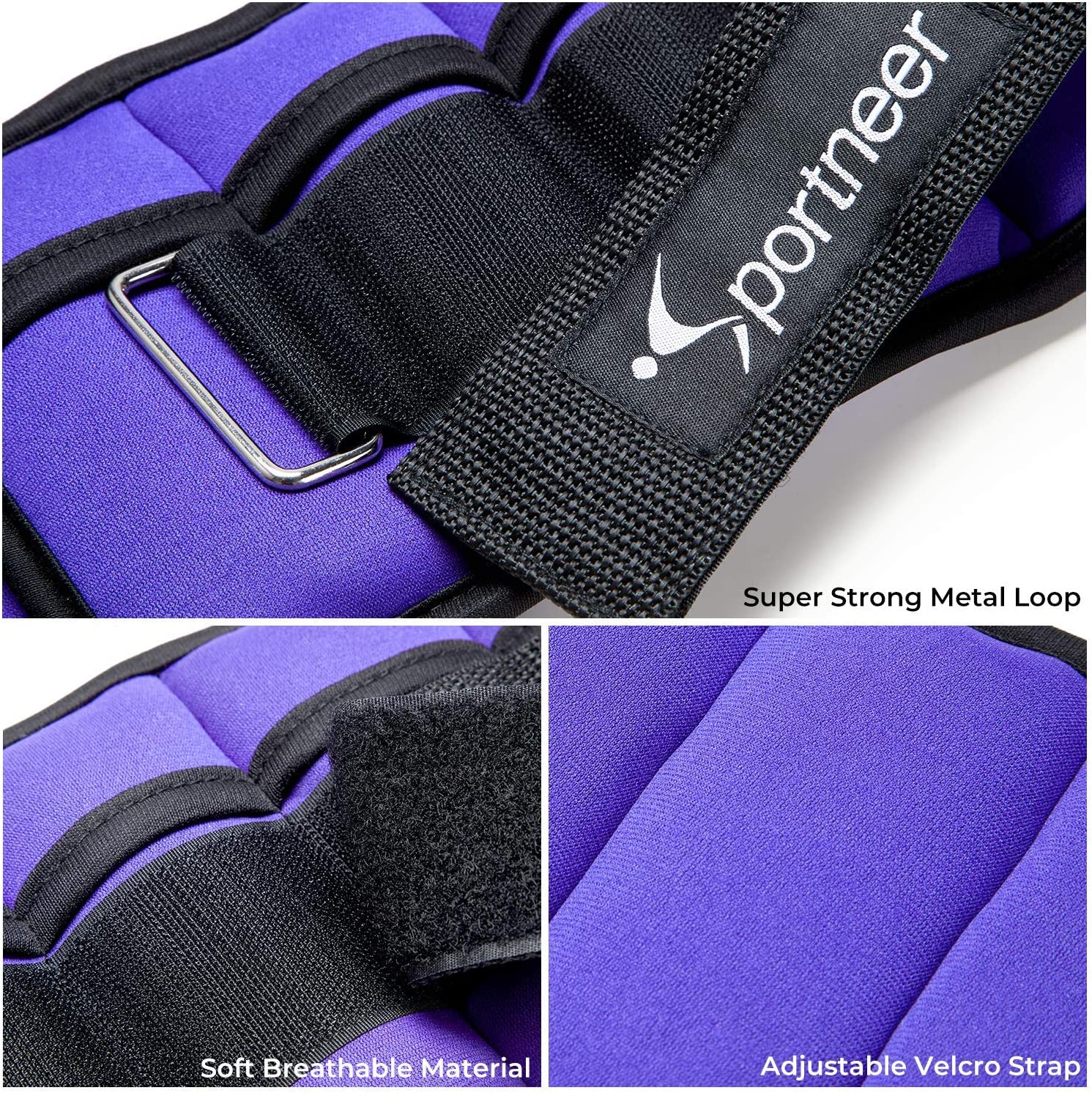 1-5 lbs Each Pack Jogging Workout Sportneer Ankle Weights Adjustable Weights Wrist Arm Leg Weight Straps for Fitness 2 Pack 2-10 lbs Walking Max 5 LBS