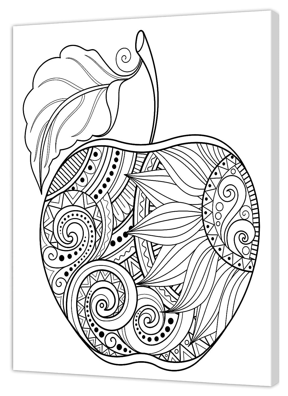 Pintcolor 7167.0 Marco con Lienzo Impreso de Colorear, Madera de Abeto/algodó n, Blanco/Negro, 40 x 50 x 3.5 cm Madera de Abeto/algodón 40x 50x 3.5cm Adria Art AA148