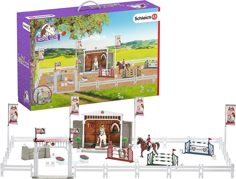 Schleich- Colección Horse Club Gran Concurso Ecuestre con Caballos, 111 cm (42338)