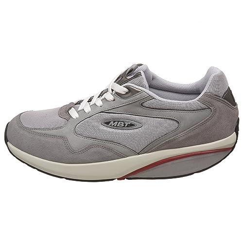 MBT - Zapatillas para Deportes de Exterior de Piel para Hombre Gris Gris Azul Size: 44 1/3: Amazon.es: Zapatos y complementos