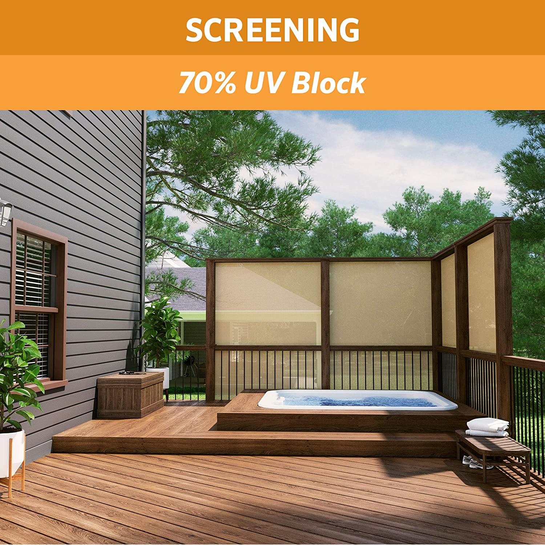 Coolaroo 457907 Shade Fabric with 70 UV Protection 6 x15 , 6 x 15 , Beech