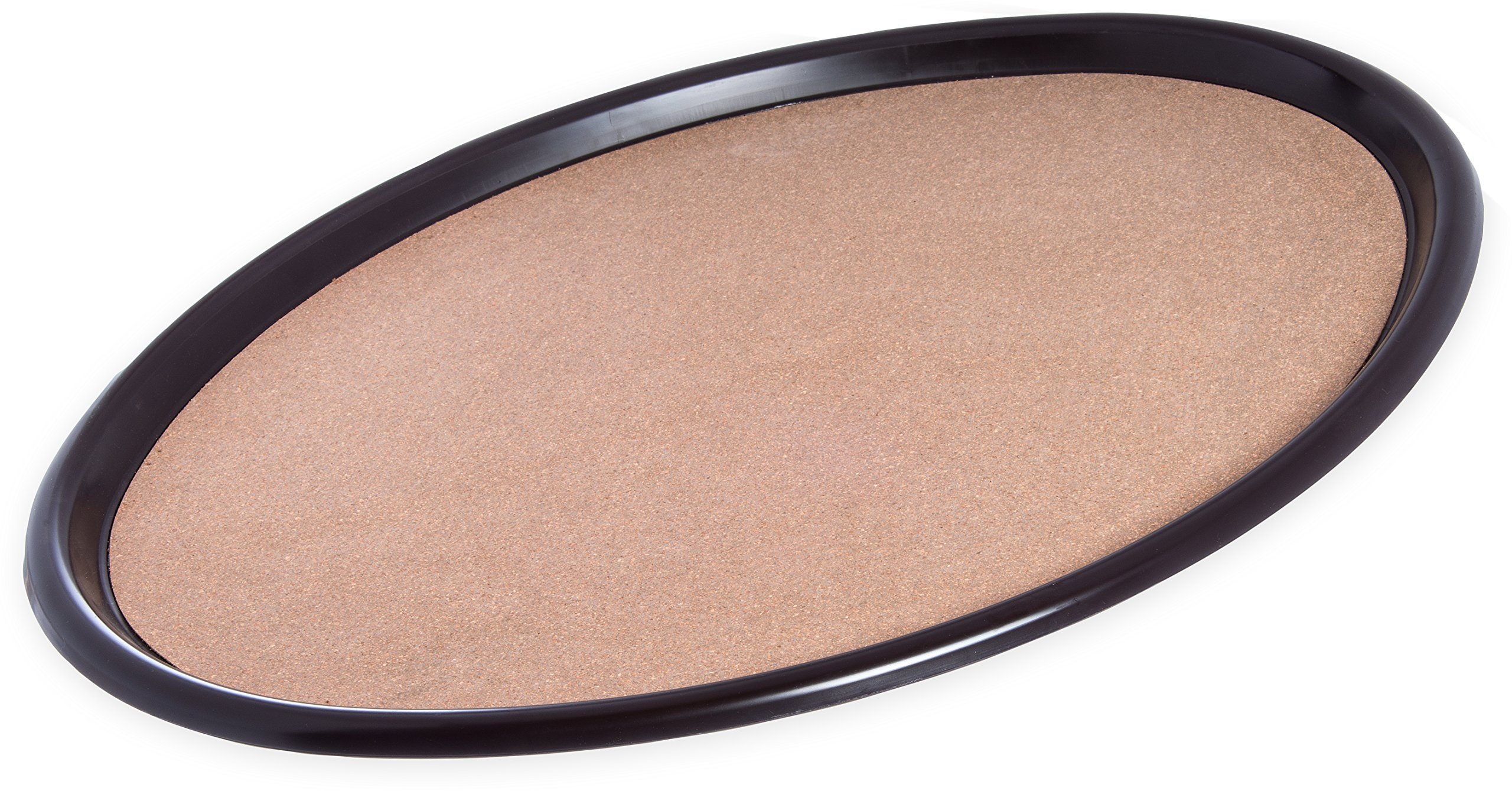 Carlisle 282301 ABS Oval Cork Tray, 0.75'' x 23'' x 28'', Brown (Case of 6)
