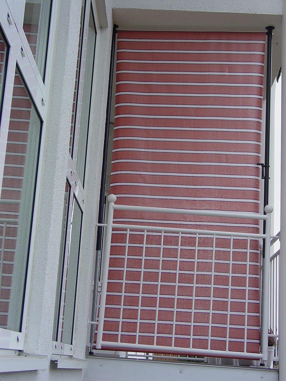 Amazon De Angerer Balkon Sichtschutz Nr 4900 Terracotta 120 Cm
