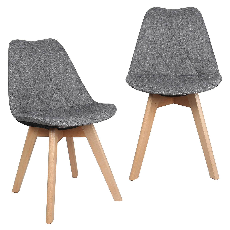 Sensational Moustache Fabric High Back Modern Shell Shape Dining Kitchen Short Links Chair Design For Home Short Linksinfo