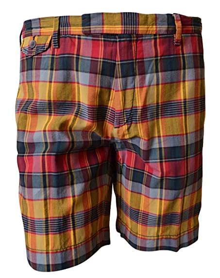 Polo Ralph Lauren Men\u0027s Plaid Shorts (35, Yellow)