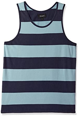 c9a5fd384f0b3 Amazon.com  Brixton Men s Corwin Tailored Fit Washed Tank Top  Clothing