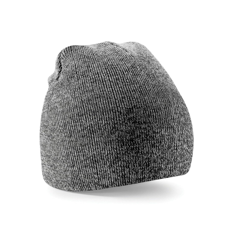 Amazon.com  Beechfield Plain Basic Knitted Winter Beanie Hat (One Size)  (Antique Gray)  Clothing d86486f38da