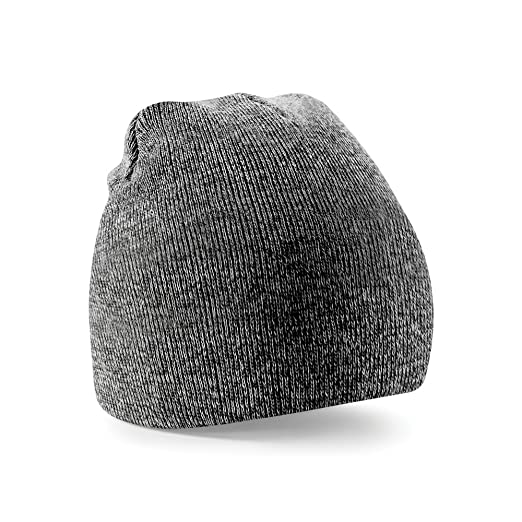 771c9439910 Beechfield Plain Basic Knitted Winter Beanie Hat (One Size) (Antique Gray)