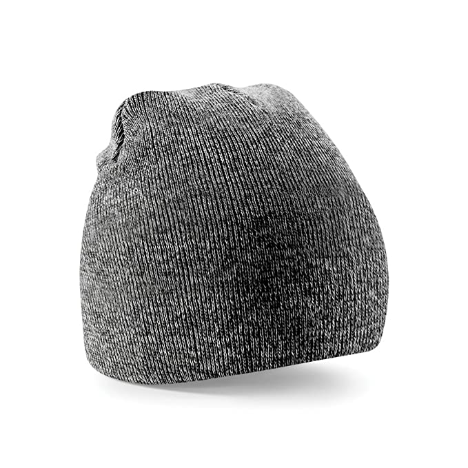 76147560f75 Beechfield Plain Basic Knitted Winter Beanie Hat (One Size) (Antique Grey)   Amazon.co.uk  Clothing