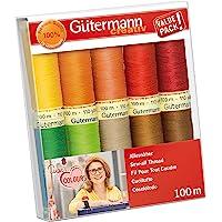 Gutermann 734008-1 Thread Set Sew-All 100 m x 10 reels, Multicoloured