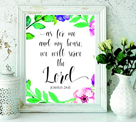 picture relating to Printable Bible Verses referred to as Printable Bible Verse - As for me and my Place print