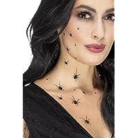 Smiffys 45879 Déguisement Tatouage Temporaire Araignées Rampantes, Noir, Taille Unique