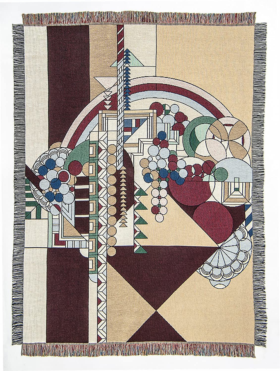 Frank Lloyd Wright May Basket Tapestry Throw