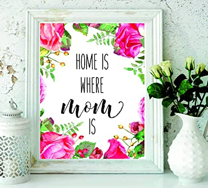 amazon com signatives home is where mom is gifts for mom unique