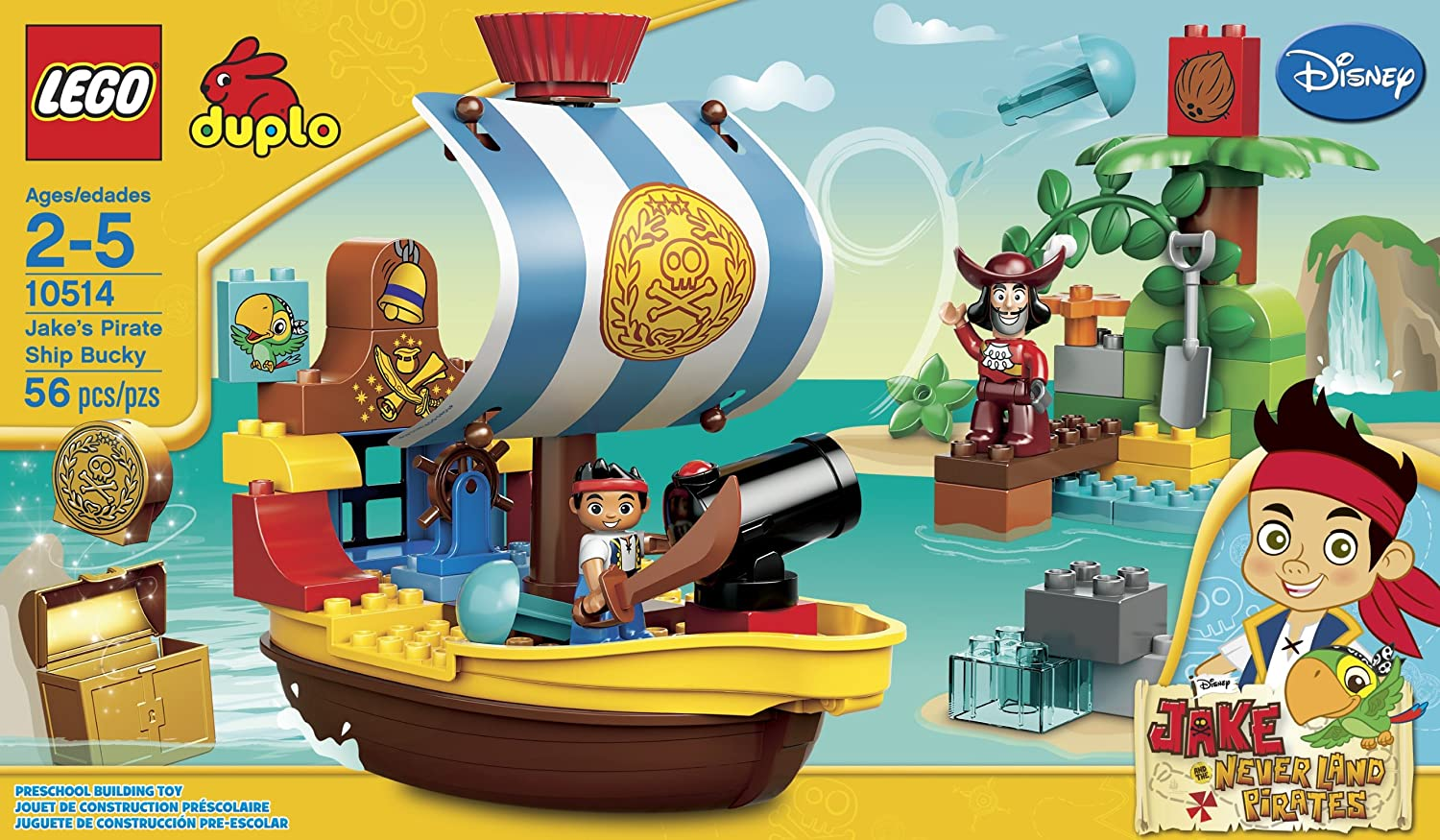 Amazoncom LEGO DUPLO Jakes Pirate Ship Bucky 10514Discontinued