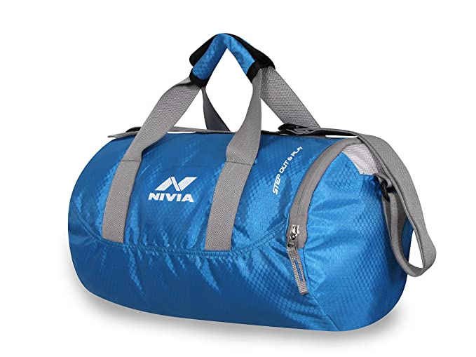 d1064bd5e8e4 Buy NIVIA Polyester Beast Water Resistant Gym Duffle Bag (Black) Online at  Low Prices in India - Amazon.in