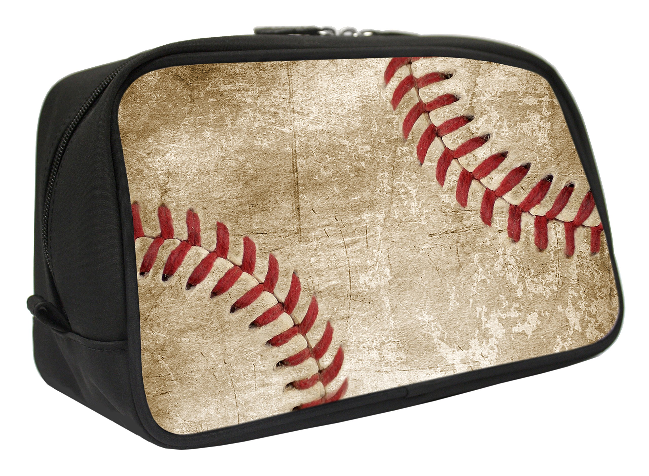 Snaptotes Baseball Design Travel Toiletry Bag Shaving Dopp Kit Black