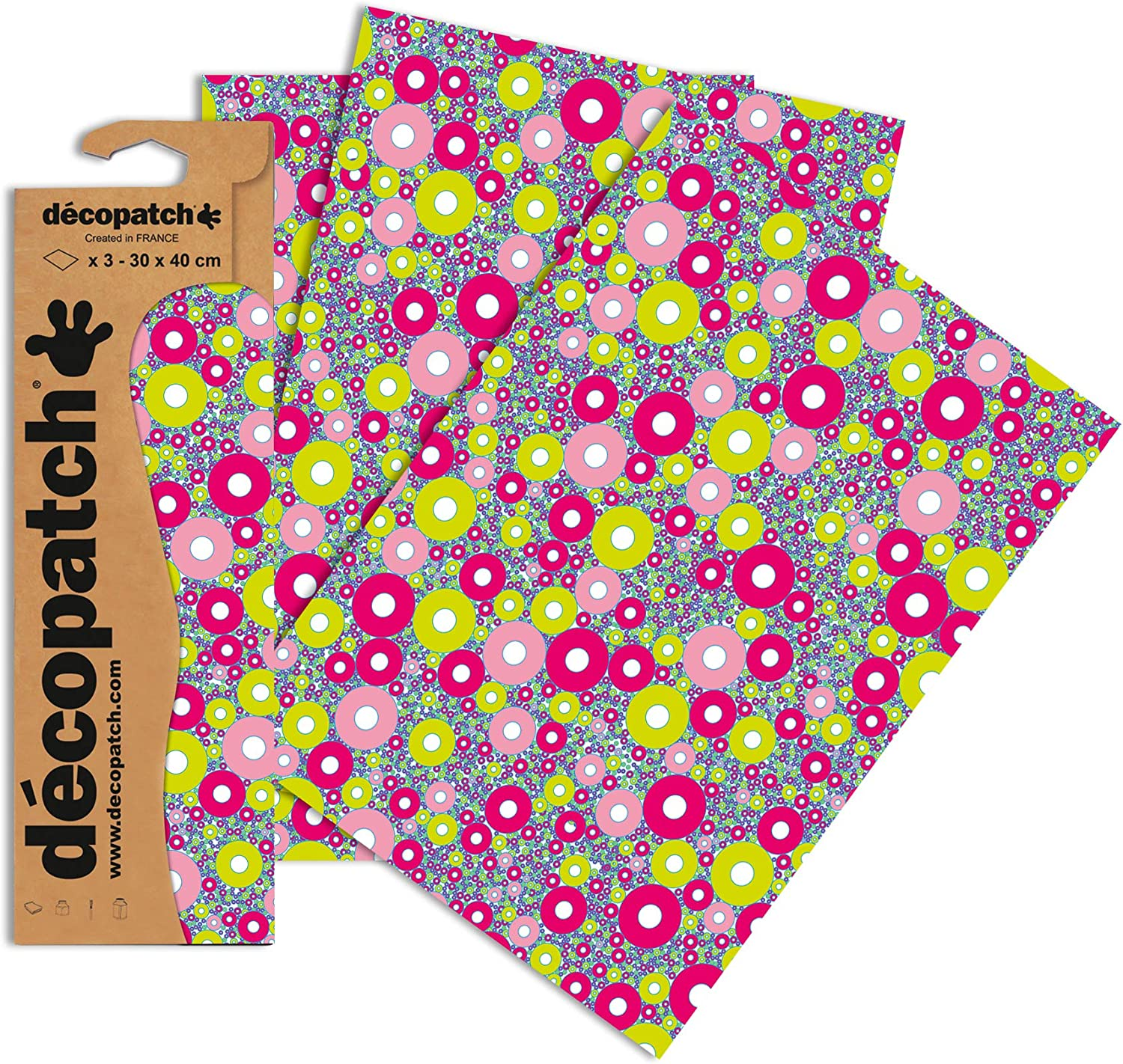 d/écopatch White Trees and Plants Assorted Colours Pack of 3 Sheets 30x40 cm