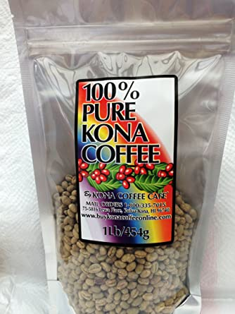 Amazon Com 100 Kona Peaberry Green Coffee Beans 1 Pound Unroasted Grocery Gourmet Food