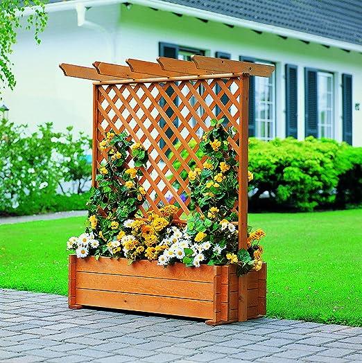 Promex Flora - Celosía de madera con cubo para plantas (tamaño pequeño): Amazon.es: Jardín