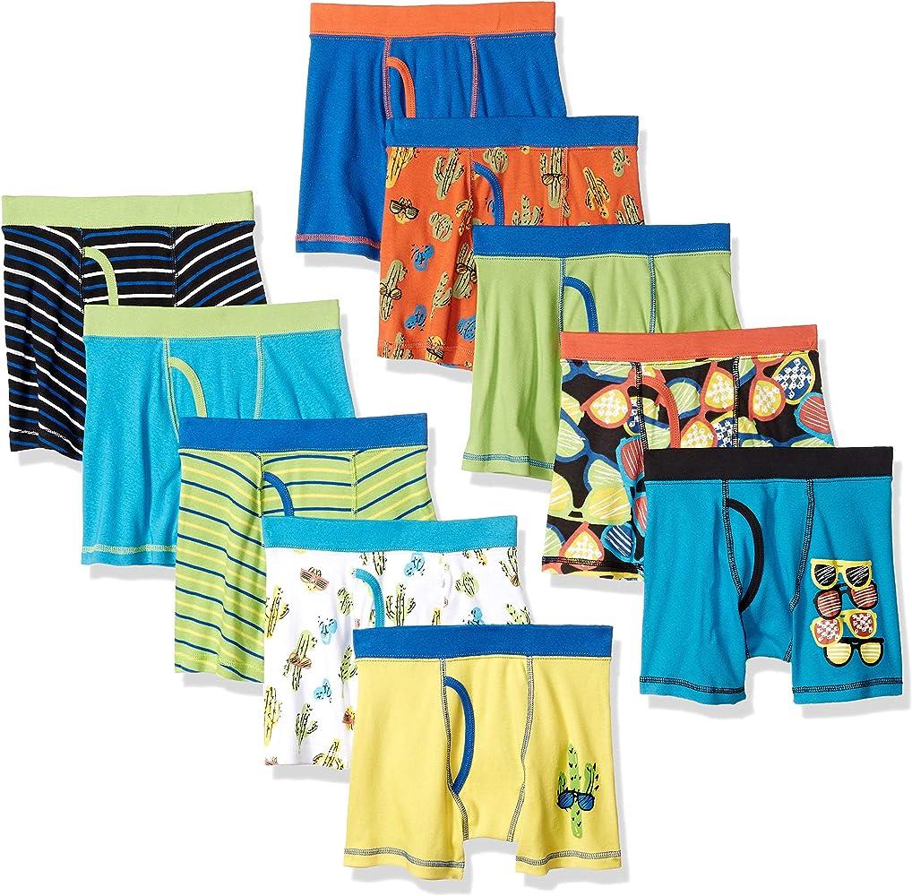 Marca Amazon - Spotted Zebra 10-Pack Boxer Brief Underwear Niños: Amazon.es: Ropa y accesorios