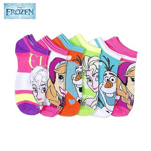 Disneys Frozen Ladies 6 Pack No Show Socks Size ...