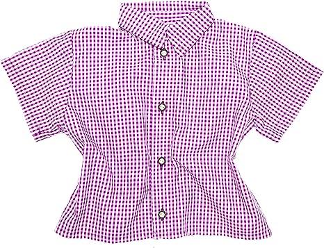 Niños Traje Camisa Milan cuadros manga corta algodón): Amazon ...