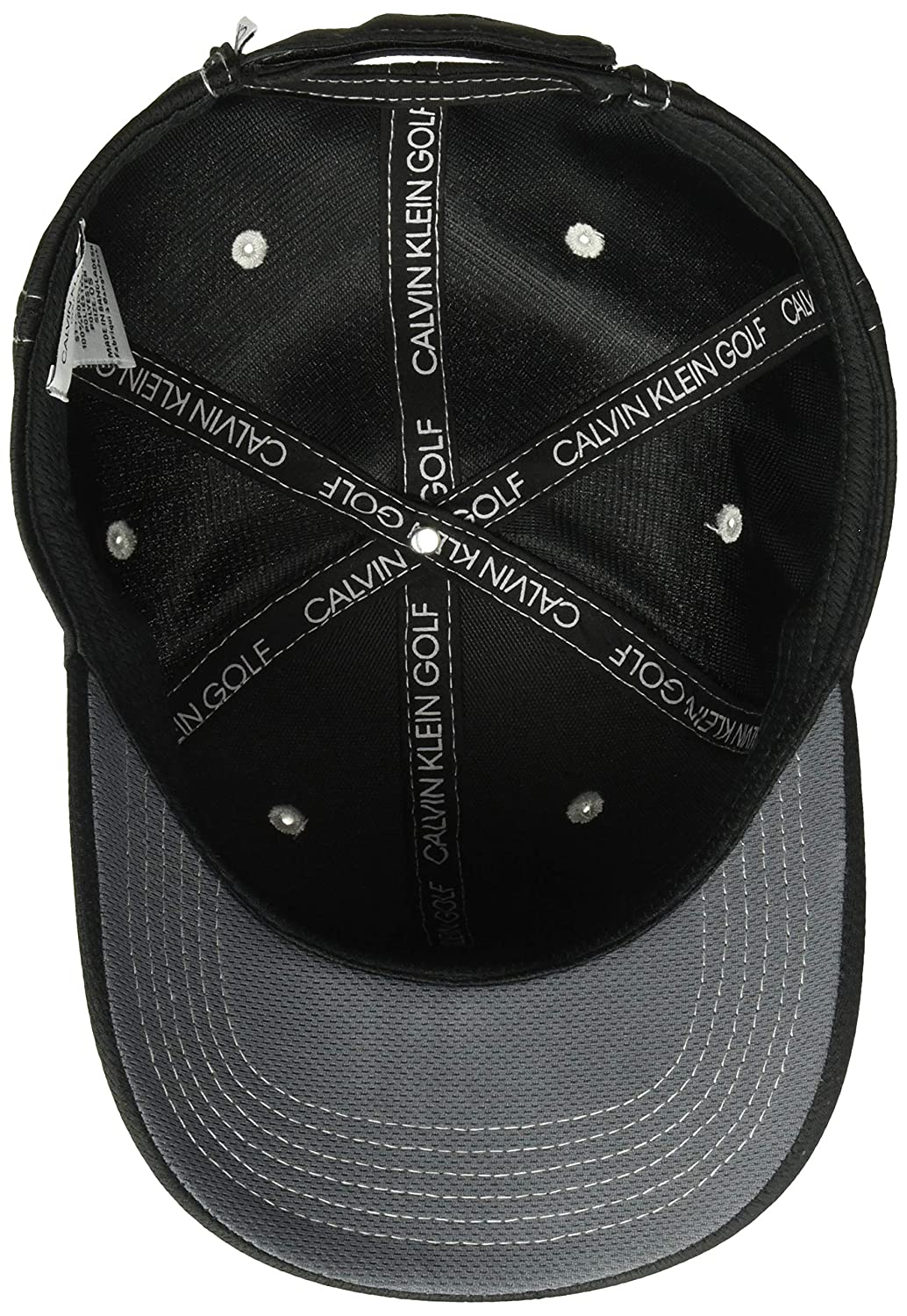 71ca2fef080 Calvin Klein Mens 2018 Performance Mesh Baseball Cap - Black Silver - One  Size  Amazon.co.uk  Clothing