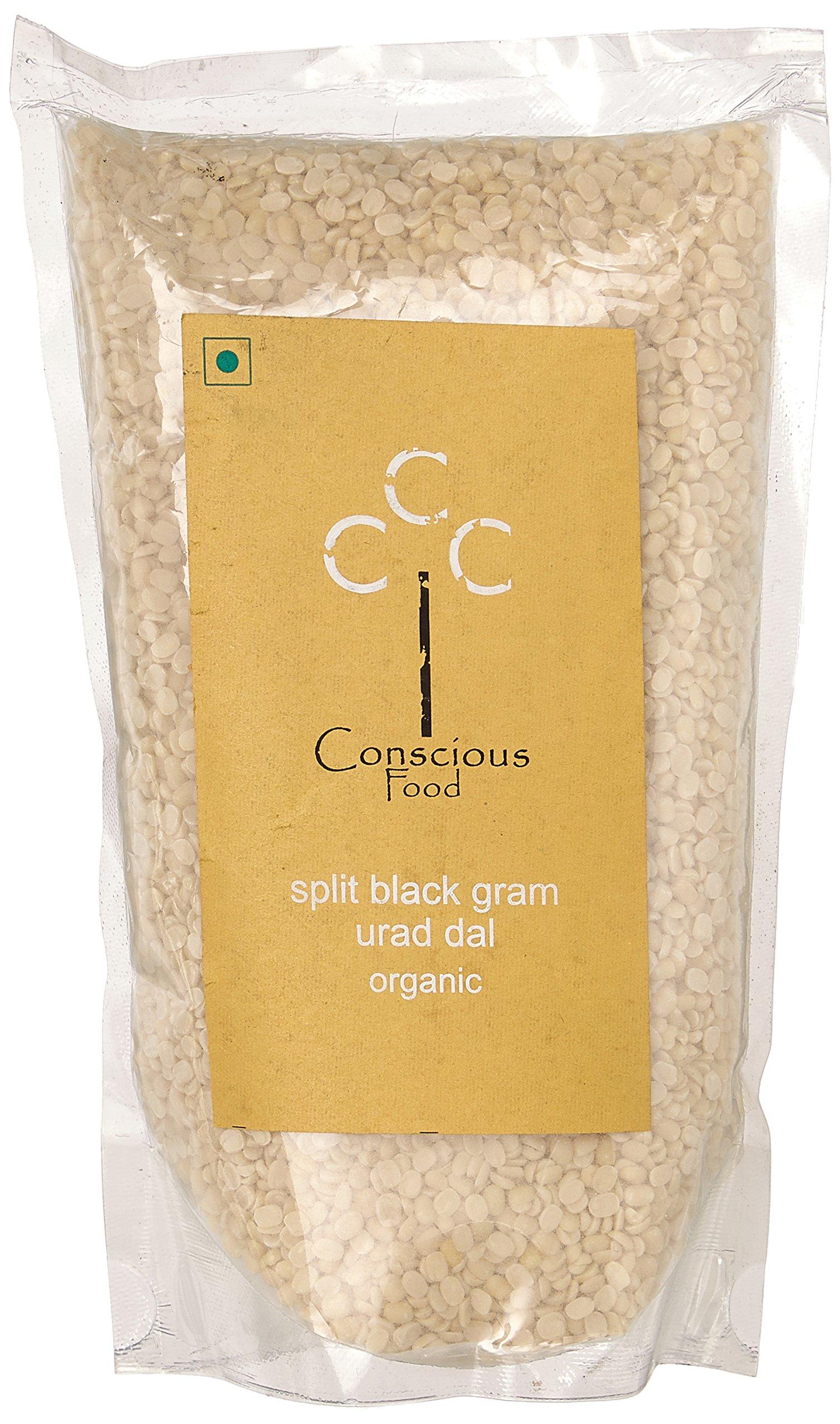 Conscious Food Organic Split Black Gram (Urad Dal)-500g