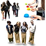 Elite Sportz Birthday Party Games for Kids - 3 All Time Favorite Kids Games, the Potato Sack Race, the 3 Legged Relay Race and the Egg and Spoon Race. They'll be Talking About Your Kids Party Forever