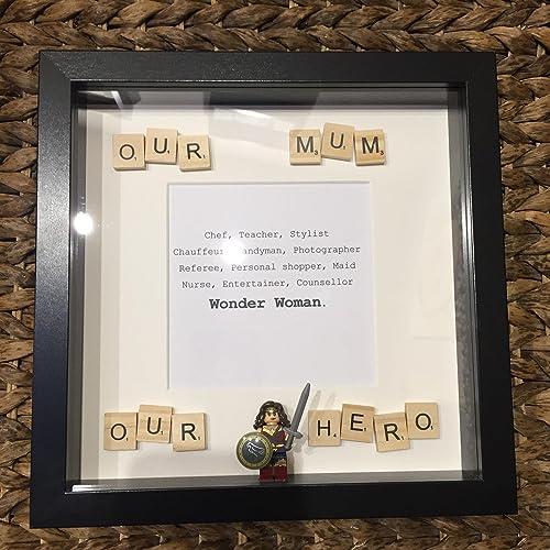 Wonder Woman, Mothers day - Lego Frames.: Amazon.co.uk: Handmade