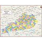 Amazon.com : Kentucky County Map - Laminated (36
