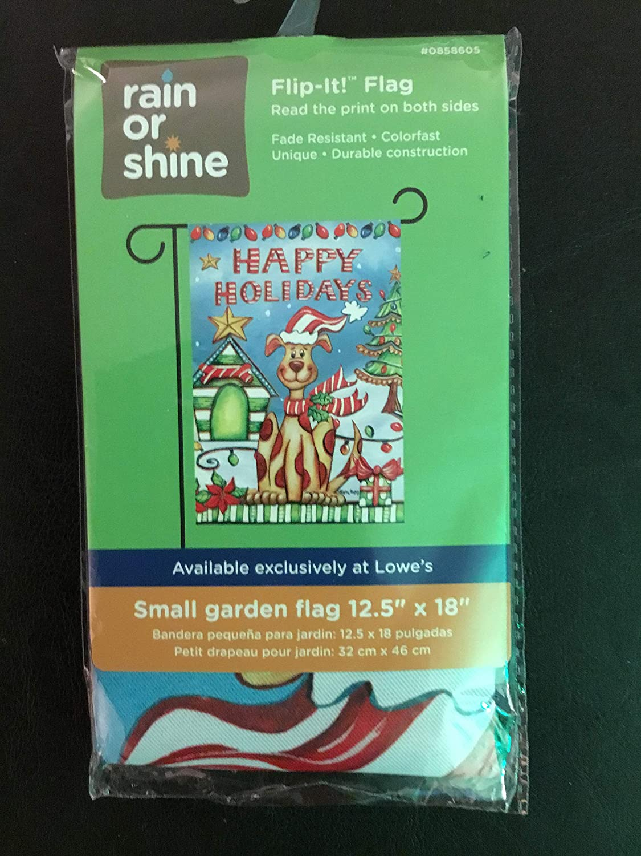 Rain or Shine Flip-It Small Dogs Fall Garden Flag