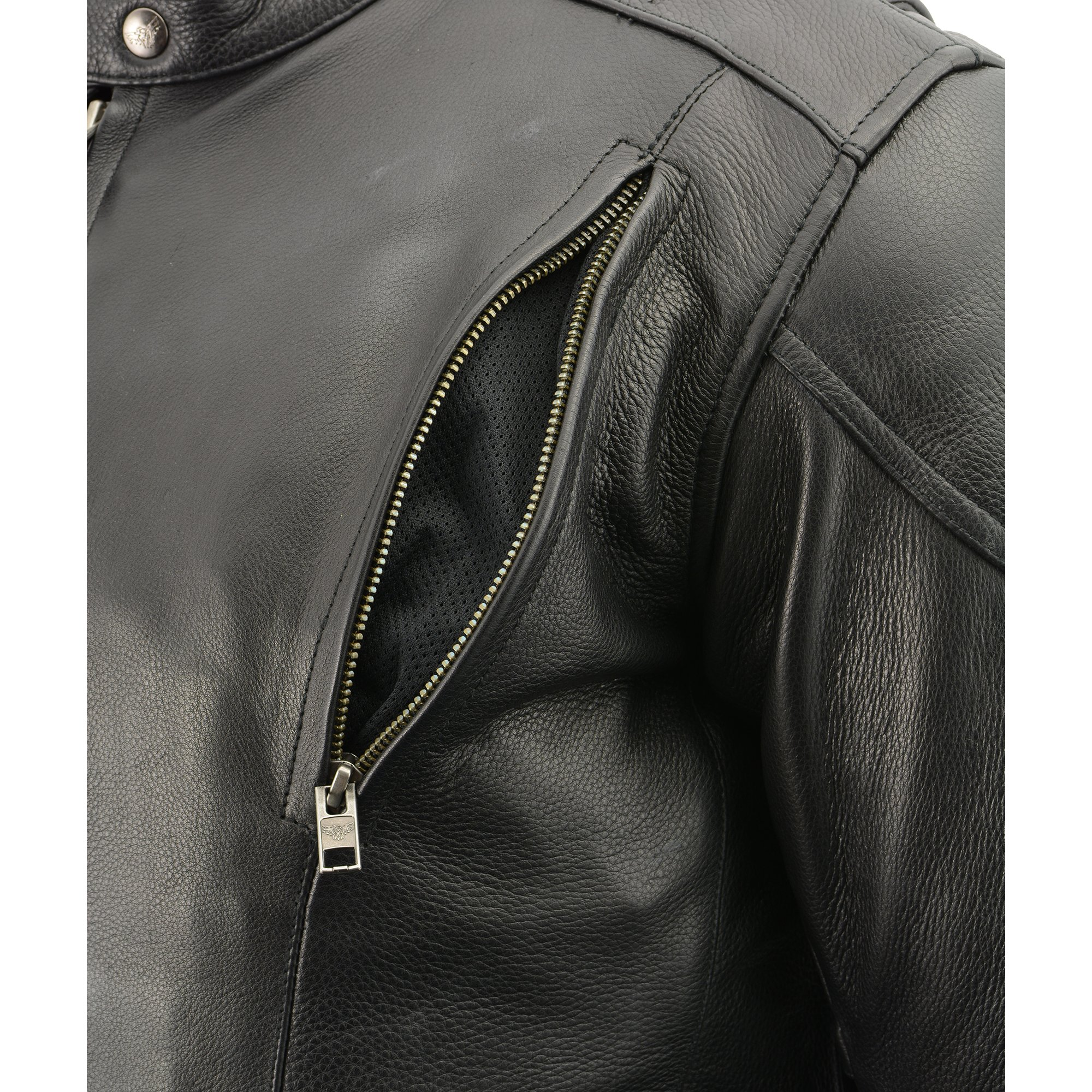 Milwaukee Leather Men's Side Lace Vented Scooter Jacket (Black, 5X-LargeTall) by Milwaukee Leather (Image #8)