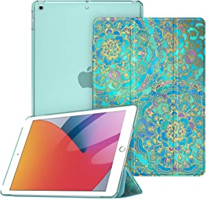Fintie Case for iPad 8th Generation (2020) / 7th Gen (2019), iPad 10.2 Inch Case - Lightweight SlimShell Stand Cover with Translucent Hard Back Protector Auto Wake/Sleep, Shades of Blue