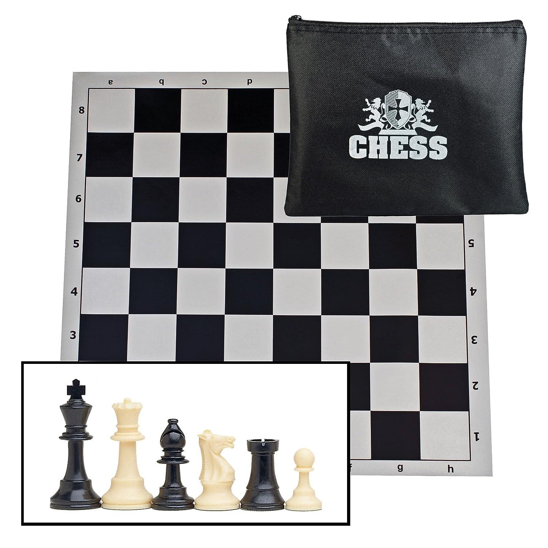 日本最級 WE Games Tournament Chess & B0040ZWL58 Set with Bag for Chessmen King - Staunton Pieces with 3.75 in. King & Black Roll-Up Board B0040ZWL58, 浴衣 七五三 和雑貨なら部坂呉服店:c2fe8339 --- irlandskayaliteratura.org