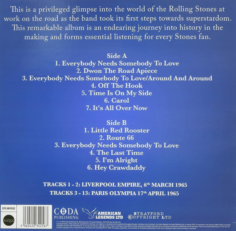 Live In Paris 1965 Limited Edition Blue Vinyl Vinyl Lp Rolling